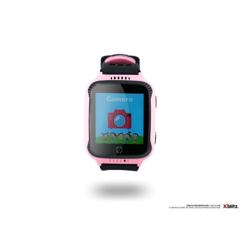 Xblitz Interaktivní dětské chytré hodinky s kamerou a GPS lokátorem, Watch Me, růžová barva