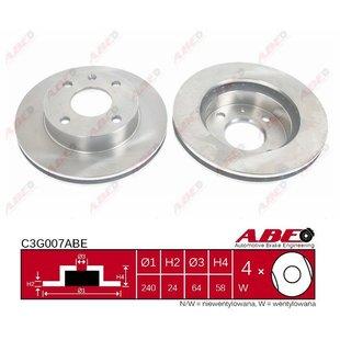 Bremsscheibe ABE C3G007ABE, 1 Stück