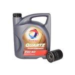 Motoröl mit Ölfilter TOTAL QUARTZ 9000 ENERGY 5W40 5L + BOSCH 0 986 452 041