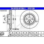 Bremsscheibe, 1 Stück ATE PowerDisc 24.0332-0158.1