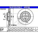 Bremsscheibe ATE 24.0132-0184.1