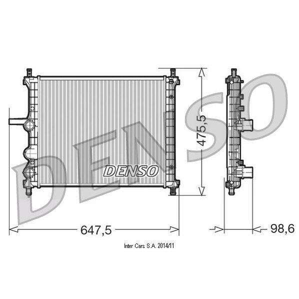 Kühler, Motorkühlung DENSO DRM09038