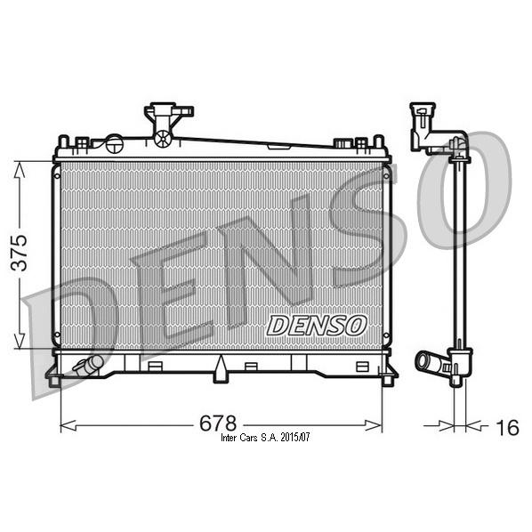 Kühler, Motorkühlung DENSO DRM44010
