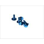 Flache 6-kantschraube M6x15 blau