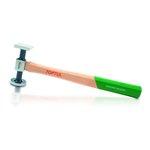 Karosseriehammer TOPTUL flach Durchmesser: 40mm, Quadrat: 38x38mm, Länge: 325mm
