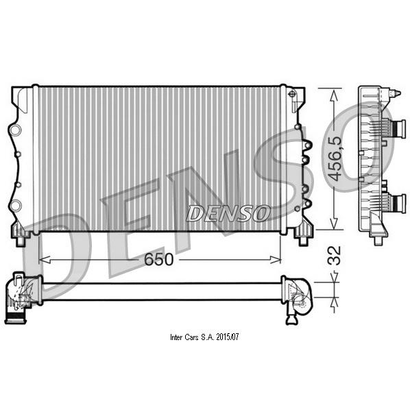 Kühler, Motorkühlung DENSO DRM23024