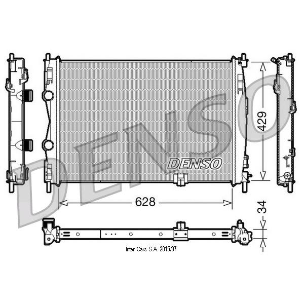 Kühler, Motorkühlung DENSO DRM46017