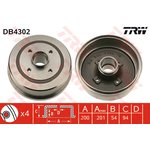 Bremstrommel, 1 Stück TRW DB4302