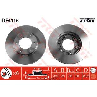 Bremsscheibe TRW DF4116, 1 Stück