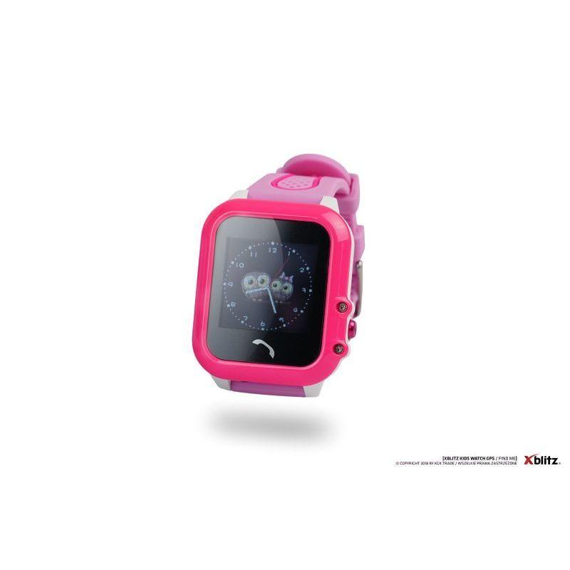 a51e8a34d Xblitz Interaktivní dětské chytré hodinky s GPS lokátorem, vodotěsné, Find  Me, růžová barva