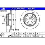 Bremsscheibe, 1 Stück ATE 24.0120-0204.1