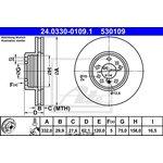 Bremsscheibe, 1 Stück Power Disc ATE 24.0330-0109.1