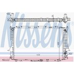 Kühler, Motorkühlung NISSENS 60476
