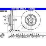 Bremsscheibe, 1 Stück Power Disc ATE 24.0325-0162.1