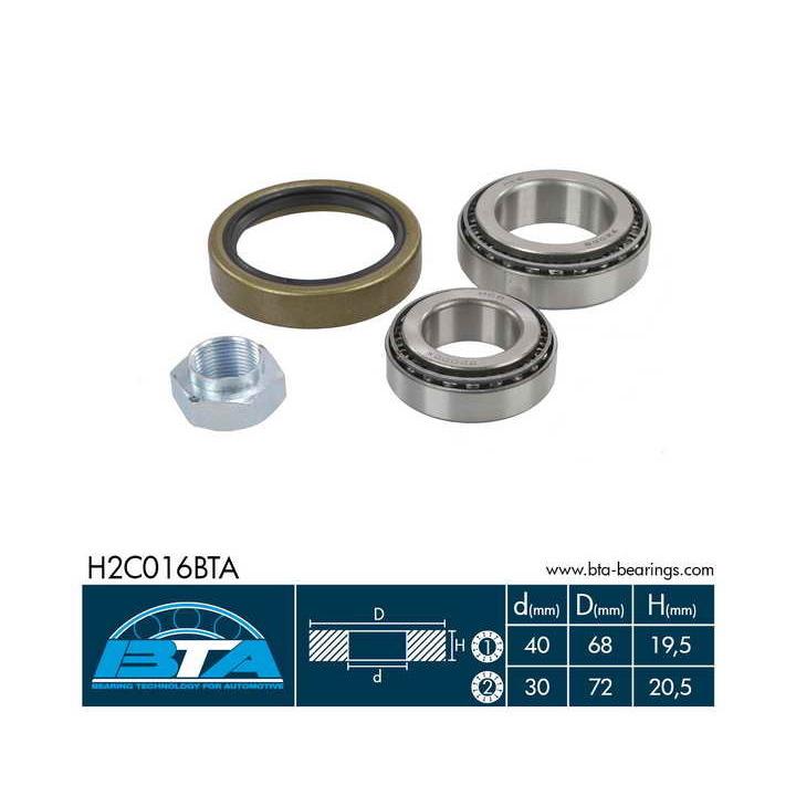 Teilebild Radlagersatz BTA H2C016BTA
